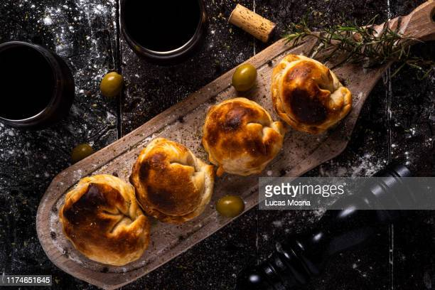 argentinians empanadas - savory food stock pictures, royalty-free photos & images