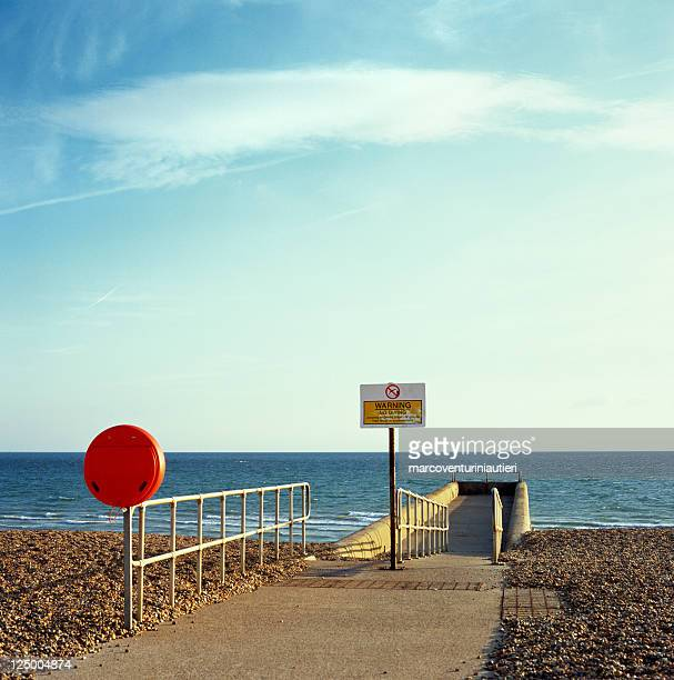 argine, brighton - pier and safety equipment - marcoventuriniautieri stock pictures, royalty-free photos & images