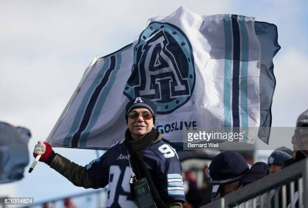 TORONTO ON NOVEMBER 19 Argo fans show their supportas the Toronto Argonauts host the Saskatchewan Roughriders in the CFL Eastern Final at BMO Field...