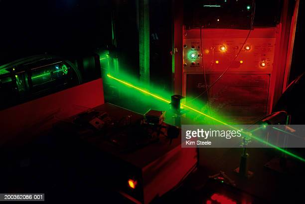 Argon gas laser, elevated view
