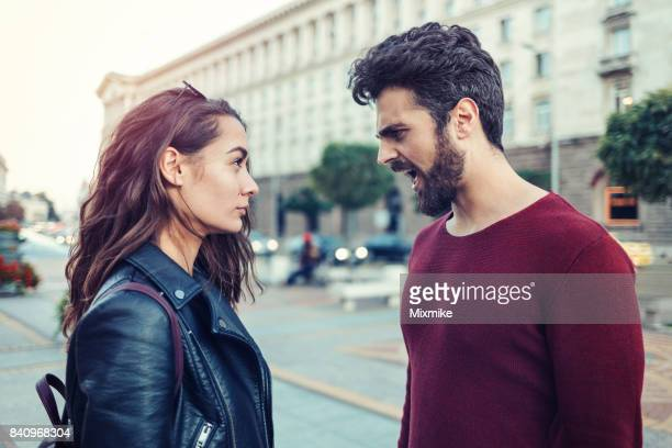 Arguing on the street