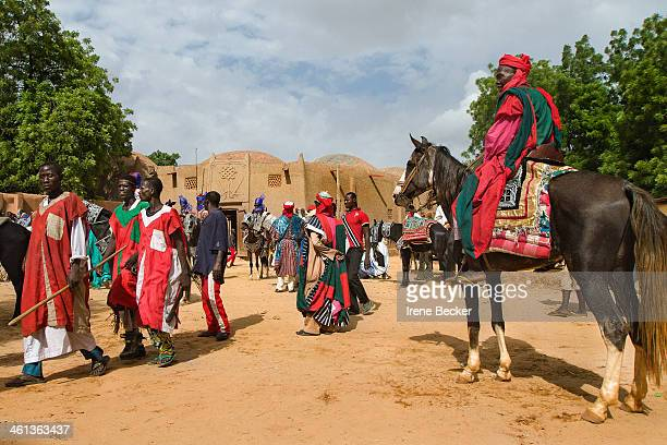 Argungu, Nigeria: Decorated riders and horses at a Durbar in Argungu, Kebbi State, Nigeria