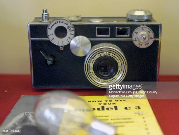Argus C3 is part of a timeline of old cameras at Tuttle Camera in Long Beach Calif on May 18 2006