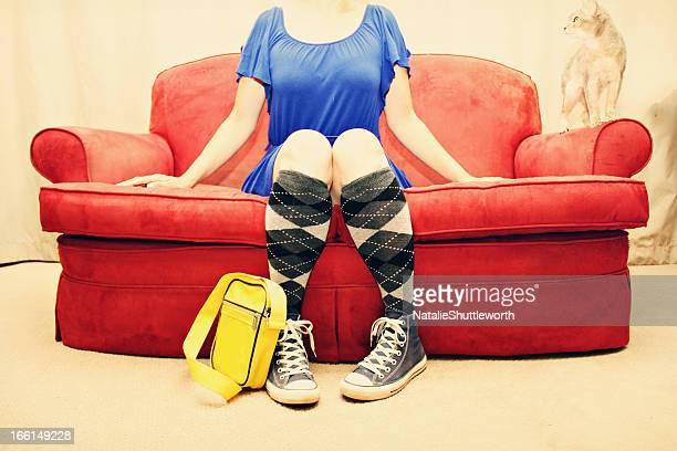 Argyle Socks on Sofa