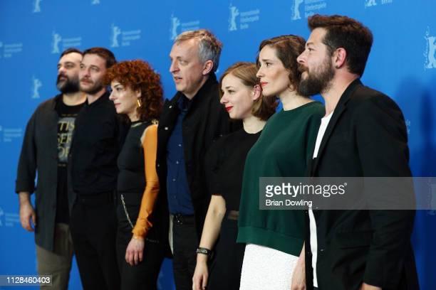 Argyris Xafis Christos Passalis Youla Boudali Titus Kreyenberg Maria Drandaki Angeliki Papoulia and Director Syllas Tzoumerkas pose at the The...