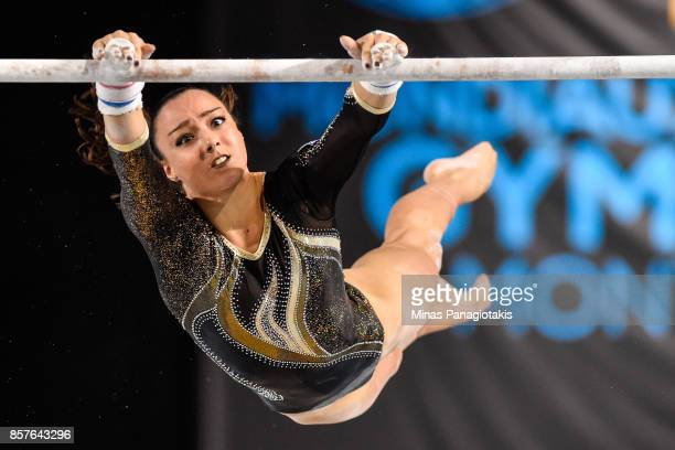 Argyro Afrati of Greece competes on the uneven bars during the qualification round of the Artistic Gymnastics World Championships on October 4 2017...