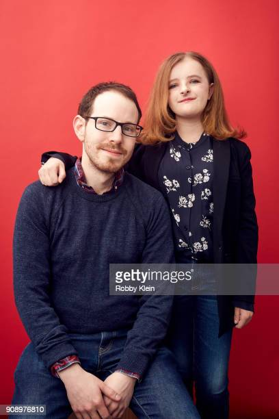 Ari Aster and Milly Shapiro from the film 'Hereditary' pose for a portrait in the YouTube x Getty Images Portrait Studio at 2018 Sundance Film...