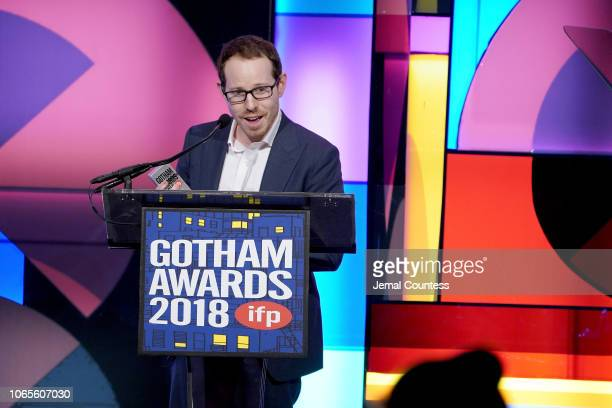 Ari Aster speaks onstage during IFP's 28th Annual Gotham Independent Film Awards at Cipriani Wall Street on November 26 2018 in New York City