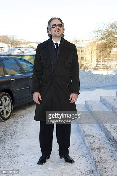 Ari Behn attends the funeral of his grandmother Anne-Marie Solberg at Immanuels Kirke on January 7, 2011 in Halden, Norway.