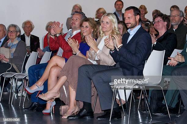 Ari Behn Princess Martha Louise of Norway Princess MetteMarit of Norway and Prince Haakon of Norway attend opening of exhibition 'Landskap og Rom' at...