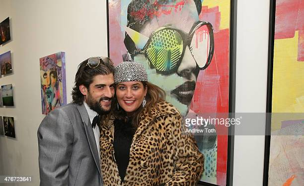 Ari Einhorn and Ann Einhorn attend Avant Gallery New York City preview opening event at Avant Gallery on March 4 2014 in New York City