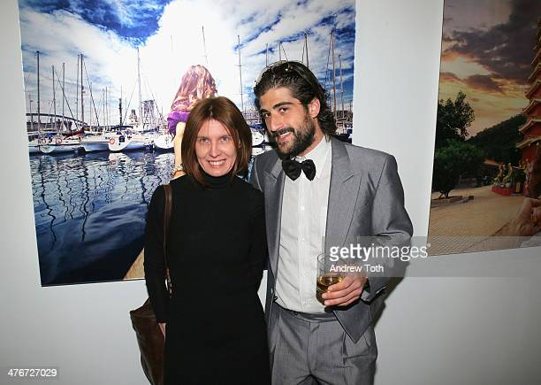 Ari Einhorn and guest attend Avant Gallery New York City preview opening event at Avant Gallery on March 4 2014 in New York City