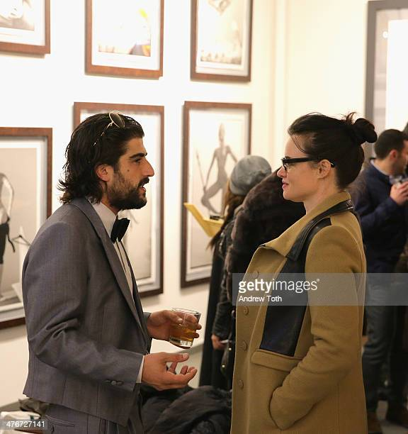 Ari Einhorn and Kelley Reynolds attend Avant Gallery New York City preview opening event at Avant Gallery on March 4 2014 in New York City