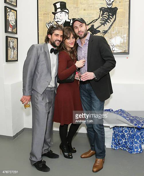 Ari Einhorn Sherry Einhorn and Yitzy Shanik attend Avant Gallery New York City preview opening event at Avant Gallery on March 4 2014 in New York City