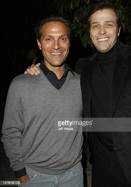 Ari Emanuel and Patrick Whitesell during Giorgio Armani Prive in LA Inside at Green Acres in Los Angeles California United States
