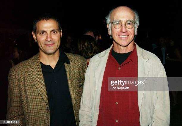 Ari Emanuel Endeavor Partner and Larry David during Endeavor PreParty Celebrating the 2003 Emmy Awards at Private Residence in Beverly Hills...