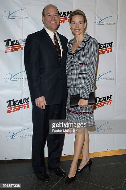Ari Fleischer and Becky Fleischer attend The Spirit of Jimmy V Gala at Pier 60 on April 22 2005 in New York City