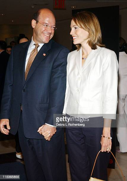 Ari Fleischer and guest during The Screening of HBO Sports' 'Nine Innings From Ground Zero' at Museum Of Natural History in New York City New York...