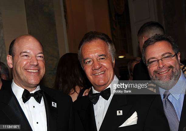 Ari Fleischer former White House press secretary president of Ari Fleischer Communications actor Tony Sirico and Drew Nieporent restaurateur attends...