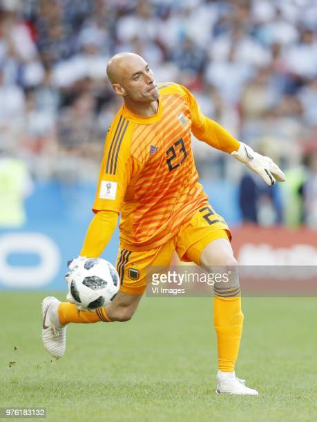 Ari Freyr Skulason of Iceland during the 2018 FIFA World Cup Russia group D match between Argentina and Iceland at the Spartak Stadium on June 16...