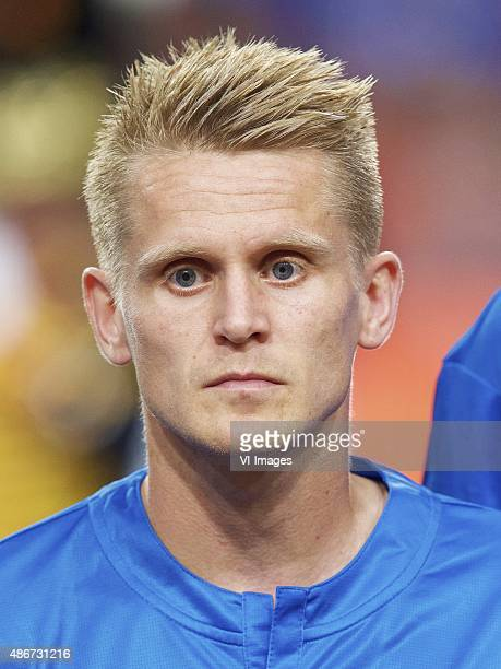 Ari Freyr Skulason of Iceland during the UEFA Euro 2016 qualifying match between Netherlands and Iceland on September 3 2015 at the Amsterdam Arena...