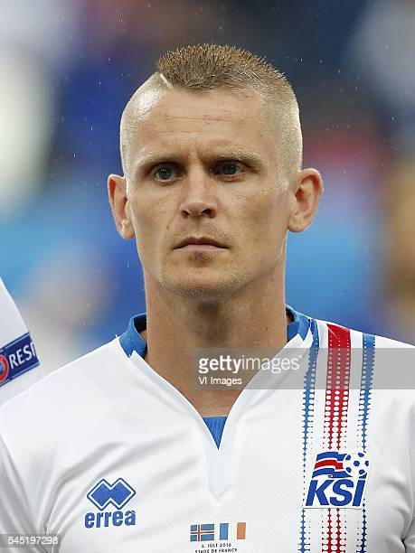 Ari Freyr Skulason of Iceland during the UEFA EURO 2016 quarter final match between France and Iceland on July 3 2016 at the Stade de France in Paris...