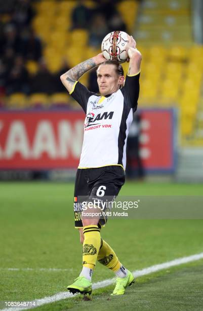 Ari Freyr Skulason of Lokeren pictured in action during the Jupiler Pro League match between KSC Lokeren OV and KAA Gent at Daknamstadion on November...
