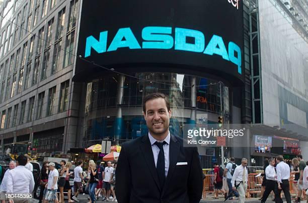 Ari Goldberg rings closing bell at NASDAQ MarketSite on September 12 2013 in New York City