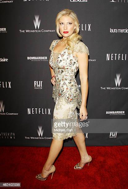Ari Graynor arrives at The Weinstein Company and NetFlix 2014 Golden Globe Awards after party held on January 12 2014 in Beverly Hills California