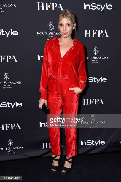 Ari Graynor attends The Hollywood Foreign Press Association and InStyle Party during 2018 Toronto International Film Festival at Four Seasons Hotel...
