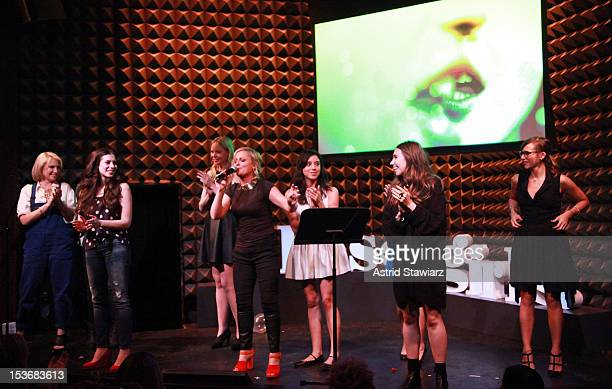 Ari Graynor Lauren Miller Riki Landhome Amy Poehler Aubrey Plaza Kate Micucci Zosia Mamet and Rashida Jones perform at Glamour Presents These Girls...