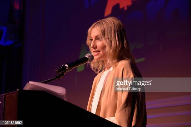 Ari Graynor speaks at the Actor's Funds 2018 Looking Ahead Awards at Taglyan Cultural Complex on October 28 2018 in Hollywood California