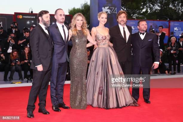 Ari Handel Darren Aronofsky Michelle Pfeiffer Jennifer Lawrence Javier Bardem and Scott Franklin attend the Gala Screening and World Premiere of...
