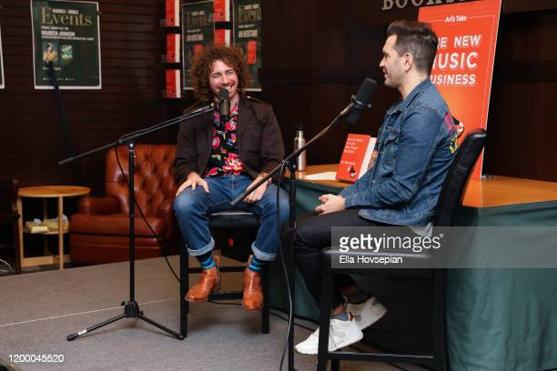 Ari Herstand and Andy Grammer discuss How To Make It in the New Music Business at Barnes Noble at The Grove on January 16 2020 in Los Angeles...