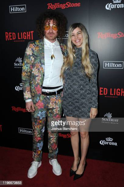 Ari Herstand and Guest attend Red Light Management Grammy After Party Presented by Rolling Stone at BOA Steakhouse on January 26 2020 in West...
