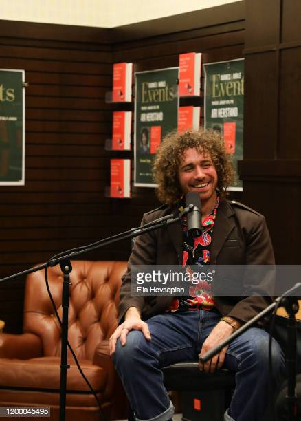 Ari Herstand speaks about his book How To Make It in the New Music Business at Barnes Noble at The Grove on January 16 2020 in Los Angeles California