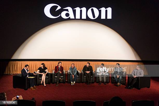 Ari Karpel Bryce Dallas Howard Josh Pence Andrew Wheeler Kalman Apple Ronnie Allman Jared Nelson and Arrius Sobonne at Canon's Los Angeles Screening...