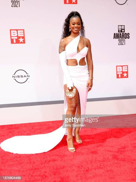 Ari Lennox attends the BET Awards 2021 at Microsoft Theater on June 27, 2021 in Los Angeles, California.