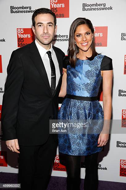 Ari Melber and Abby Huntsman attend Bloomberg Businessweek's 85th anniversary celebration at the American Museum of Natural History on December 4...