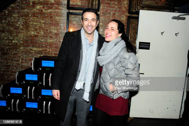 Ari Melber and Daniella Bensimon attend New York Premiere Of TNT's 'I Am the Night' After Party at 214 Lafayette on January 22 2019 in New York City