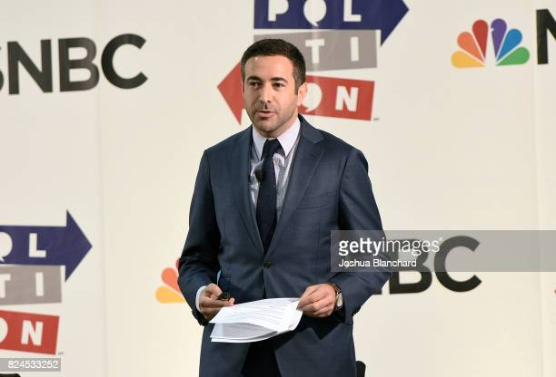 Ari Melber at the 'MSNBC Hip Hop And Politics' panel during Politicon at Pasadena Convention Center on July 30 2017 in Pasadena California