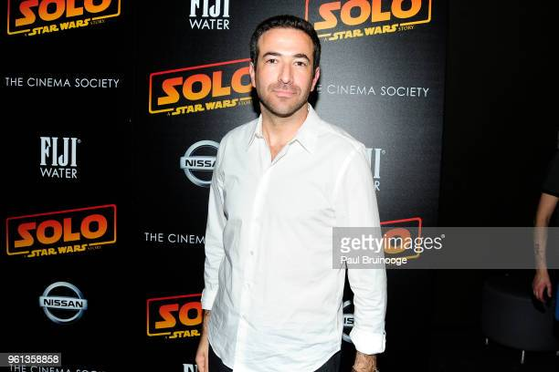 Ari Melber attends The Cinema Society With Nissan FIJI Water Host A Screening Of 'Solo A Star Wars Story' at SVA Theatre on May 21 2018 in New York...