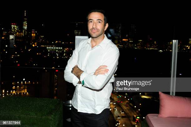 Ari Melber attends The Cinema Society With Nissan FIJI Water Host The After Party For 'Solo A Star Wars Story at Le Bain Rooftop at The Standard on...