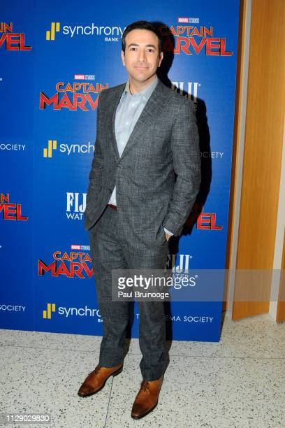 Ari Melber attends The Cinema Society With Synchrony Bank And FIJI Water Host A Special Screening Of Marvel Studios' Captain Marvel at Henry R Luce...