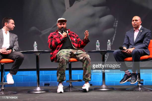 Ari Melber Ebro Darden and Congressman Hakeem Jeffries attend Things Done Changed Celebrating The 25th Anniversary Of The Notorious BIG's Ready To...