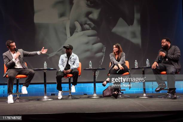 Ari Melber Havoc Kimberly Osorio and Lord Finesse attend Things Done Changed Celebrating The 25th Anniversary Of The Notorious BIG's Ready To Die at...