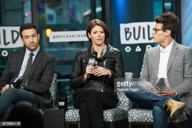 Ari Melber Kasie Hunt and Jacob Soboroff attend the Build Series to discuss Notes From The Newsroom 100 Days Of Trump at Build Studio on April 19...