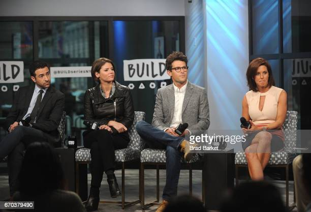 Ari Melber Kasie Hunt Jacob Soboroff and Stephanie Ruhle attend the Build Series Notes From The Newsroom 100 Days Of Trump special discussion at...