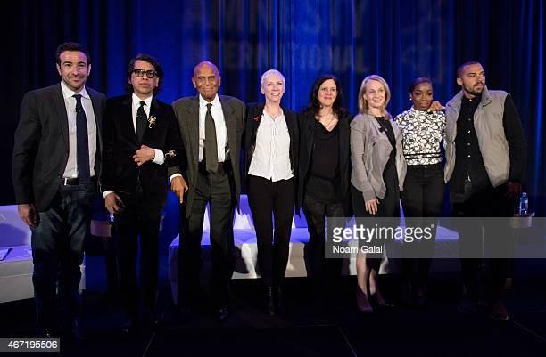 Ari Melber Nusrat Durrani Harry Belafonte Annie Lennox Laura Poitras Piper Kerman Estelle and Jesse Williams attend Amnesty International USA's 50th...