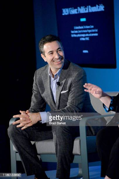 Ari Melber speaks on stage at the 2020 Vision Political Roundtable panel at the on November 07 2019 in New York City